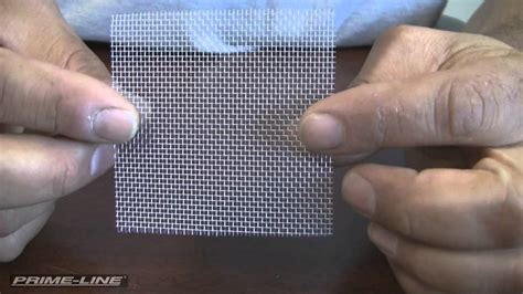 repairing holes in your window or door screen