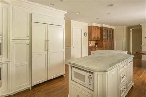 soft white custom cabinets in ct traditional kitchen
