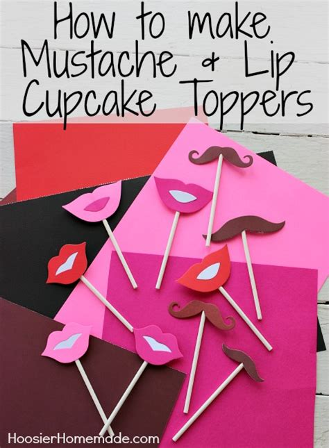 How To Make Paper Mustaches - s day cupcake toppers hoosier