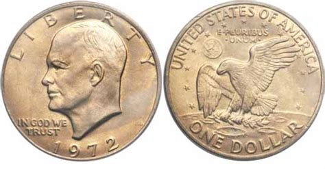 specifications eisenhower silver dollars 1972 eisenhower dollar values facts type i ii iii