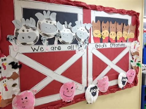 farm animal crafts for 25 best ideas about farm bulletin board on