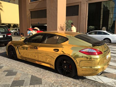 porsche dubai gold porsche spotted in dubai luxury cars spotted in
