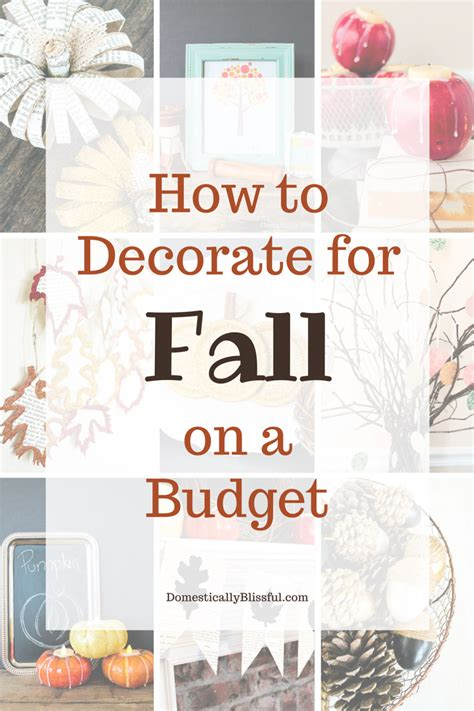 how to decorate for fall on a budget - Decorate For Fall On A Budget