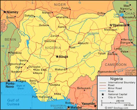 nigeria africa map nigeria map and satellite image