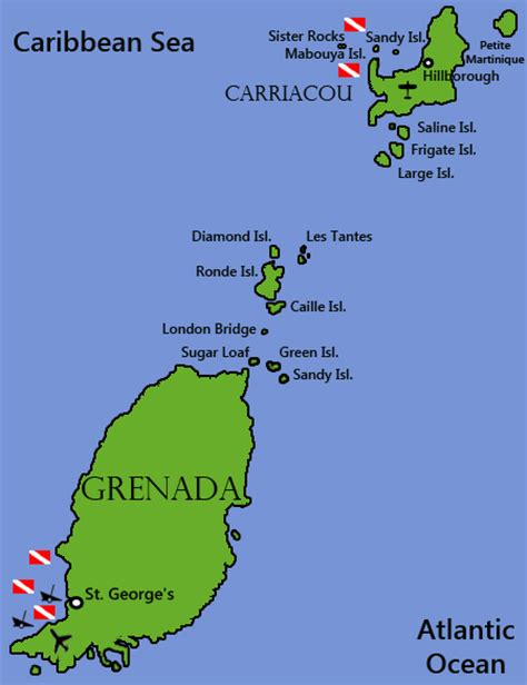 map of grenada island grenada quotes like success