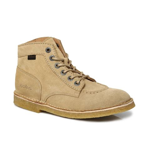 Boots Brown Kickers kickers beige brown kick legend suede mens ankle high
