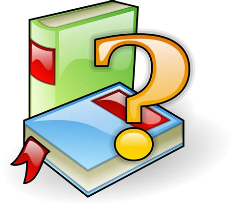 Or Question Book Clipart Books With Question