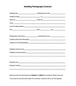 sample wedding contract free examples format