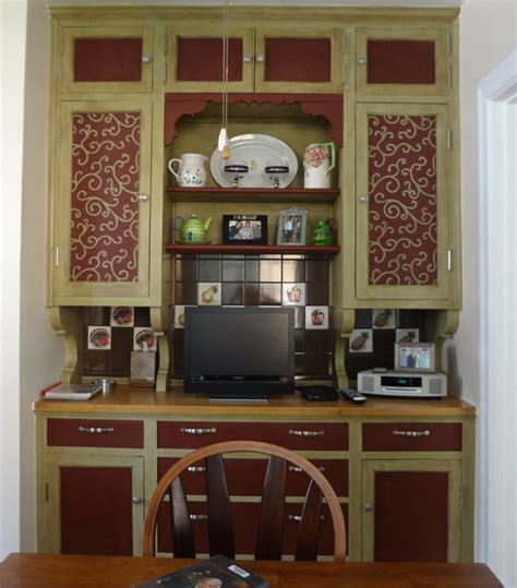 vintage butler s pantry cabinets traditional kitchen