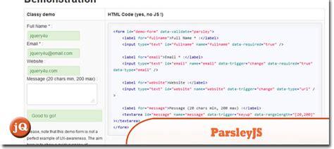 parsley pattern js 10 random jquery plugin friday goodness sitepoint