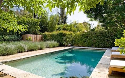 Backyard Billiards by Model Carolyn Murphy S Provencal House In Los Angeles For