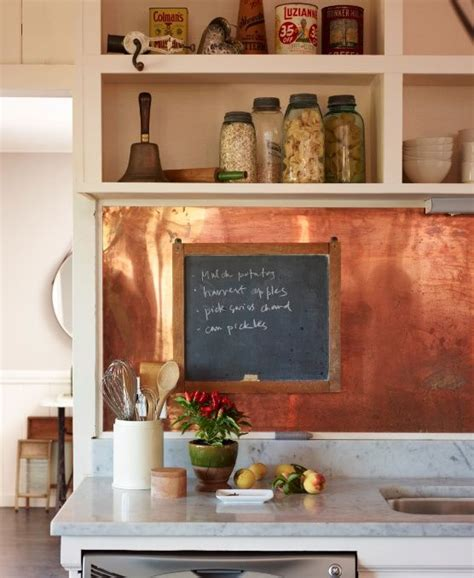 kitchen aluminum backsplash copper backsplashes for 27 trendy and chic copper kitchen backsplashes digsdigs