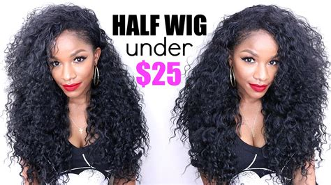 how to style medium bonding hairpiece curly half wig under 25 thebrilliantbeauty youtube