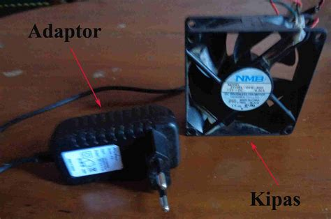 Komponen Kipas Laptop membuat alat pendingin laptop sederhana agar laptop dan
