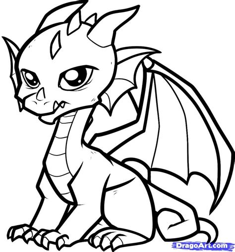 coloring pictures of baby dragons free coloring pages of easy drawing dragons