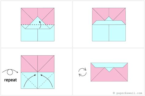 Origami Simple Envelope - make an easy origami envelope wallet
