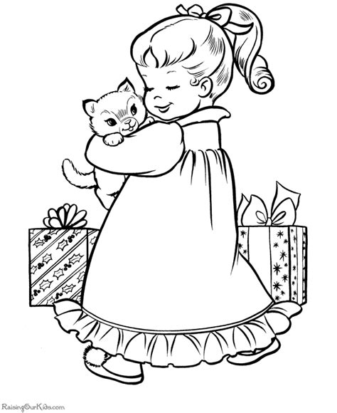 christmas coloring pages kitty christmas coloring pages christmas kitten