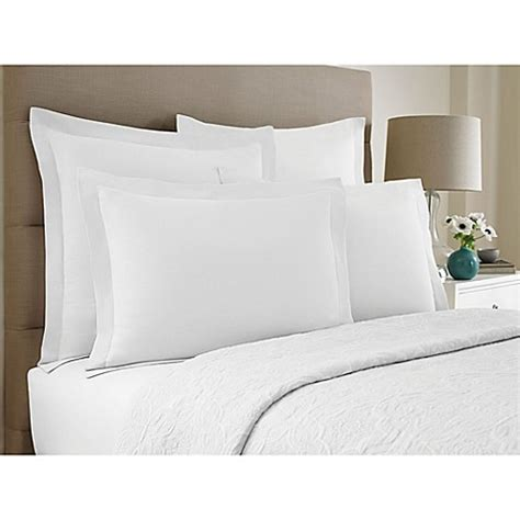 bed pillow shams buy wamsutta 174 collection button pleated standard pillow