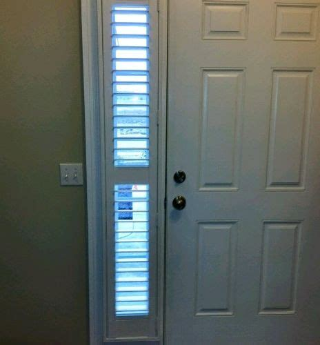 Window Coverings For Front Door Sidelights Sidelight Front Door Window Treatments Using Shutters Instead Of Blinds