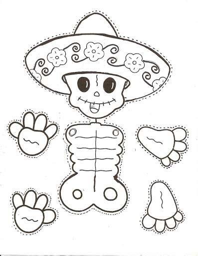 da de muertos dibujos calaveritas mexicanas de papel dale detalles