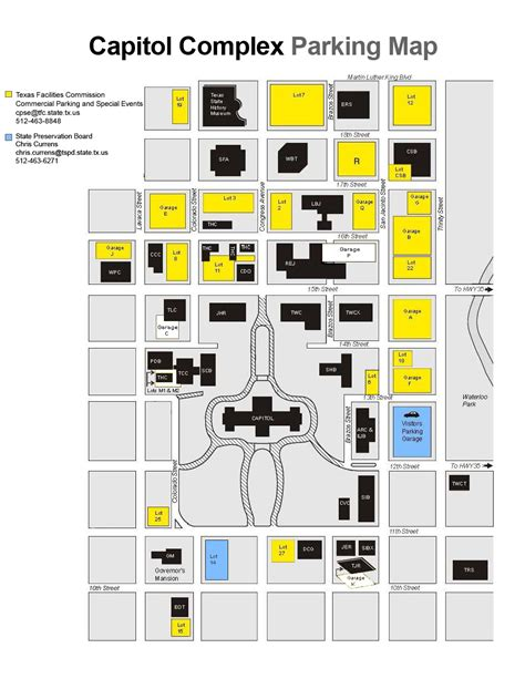 texas capitol building map commercial parking and special events mystery program texas facilities commission