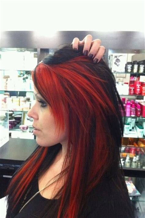 dark hair with highlights underneath blood red highlights manic panic accessories quot manic shades of red quot by