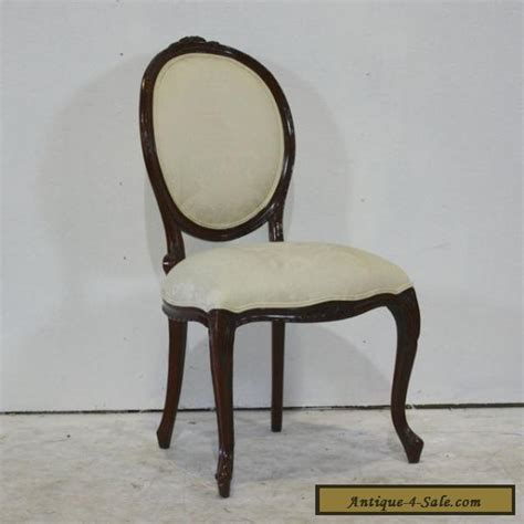 set of 4 louis xv style dining chairs mahogany wood for