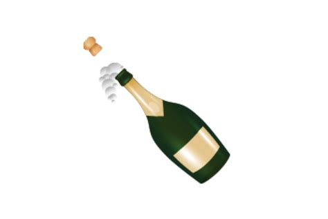 Emoji Blog Chagne Bottle Emoji For Those Special
