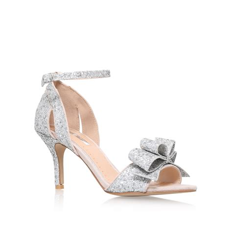 silver sandal mid heel shopstyle caiden miss kg caiden silver mid heel sandals by miss kg