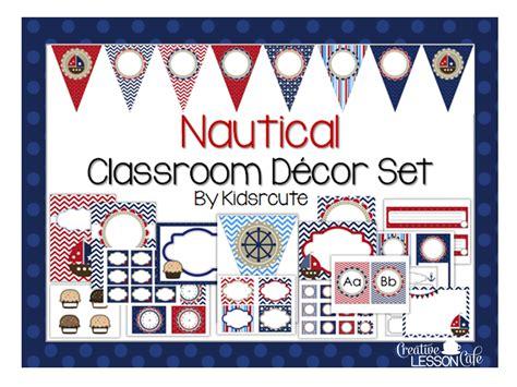 nautical classroom decorations creative lesson cafe nautical classroom decor set and