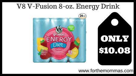 8 oz energy drinks v8 v fusion 8 oz energy drink 24 pack only 10 08 shipped