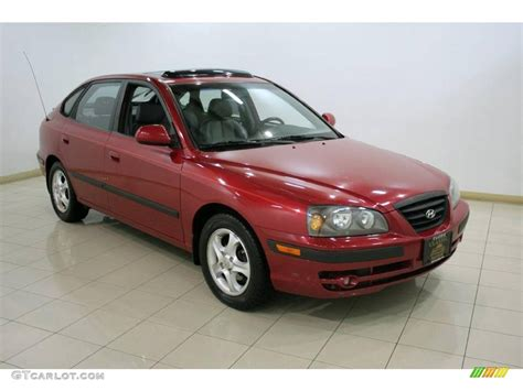 2004 Hyundai Elantra Gt by 2004 Crimson Hyundai Elantra Gt Hatchback