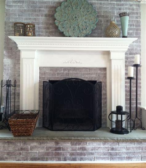 Whitewashed Fireplace whitewashing brick fireplace studio design gallery