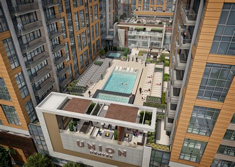 event design group denver union denver tops out its third final tower mile high cre