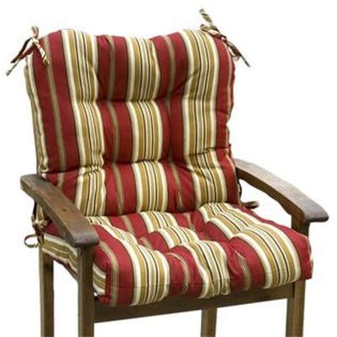 outdoor chair cushions seat and back greendale home fashions outdoor seat back chair cushion