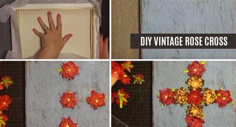 21 diy vintage wall decor ideas the graphics fairy diy vintage rose cross wall art