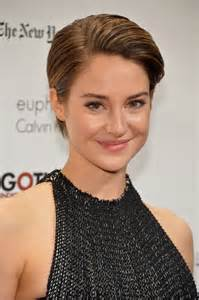 recent celebrities to cut their hair shailene woodley 23rd gotham independent film awards in