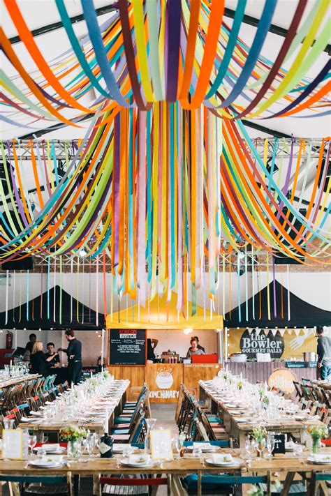 Decoration Warehouse by Diy Wedding In Warehouse Venue With Ribbon Decor