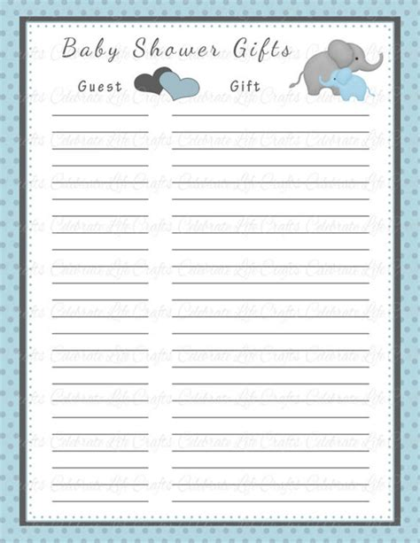 baby baby shower gift basket card template baby shower gift list template 8 free word excel pdf