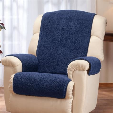 sherpa recliner cover sherpa recliner protector by oakridge comforts chair
