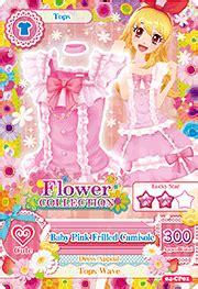 Aikatsu Kartu Tops baby pink frilled coordination aikatsu wiki fandom powered by wikia