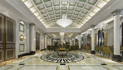 neoclassic style hotel lobby neoclassical style