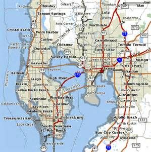 gulf florida map map of gulf coast florida cities images