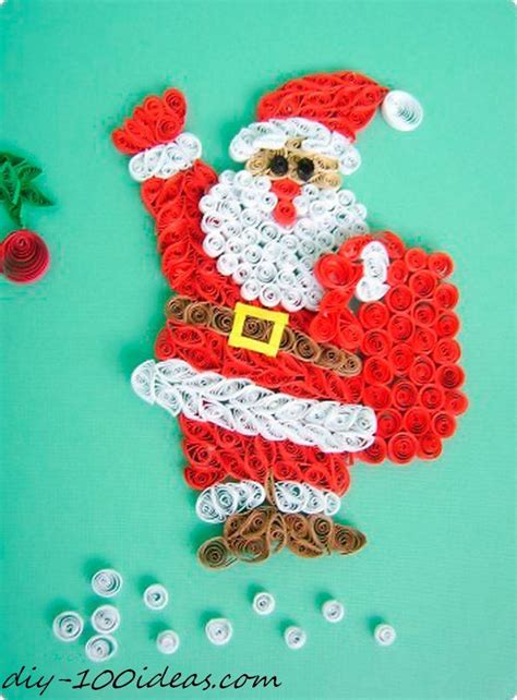 quilling christmas card diy  ideas