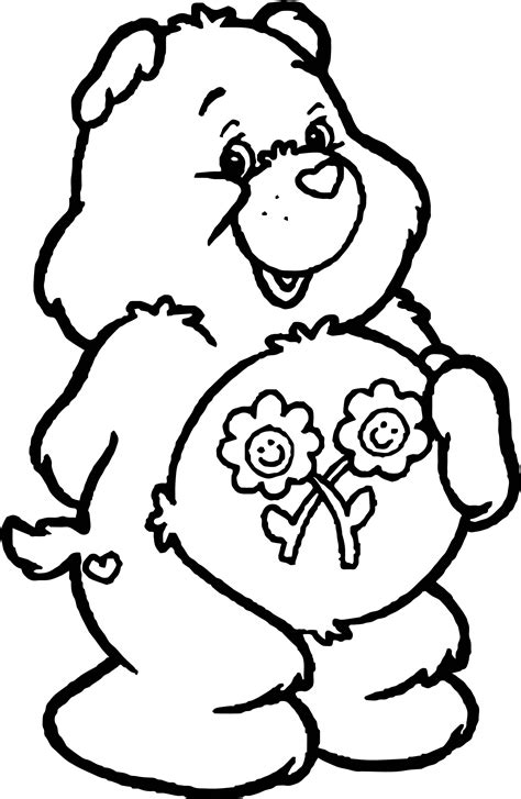 care coloring pages flower care bears coloring page wecoloringpage