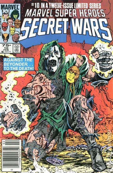 libro marvel super heroes secret comic books in secret wars 1984