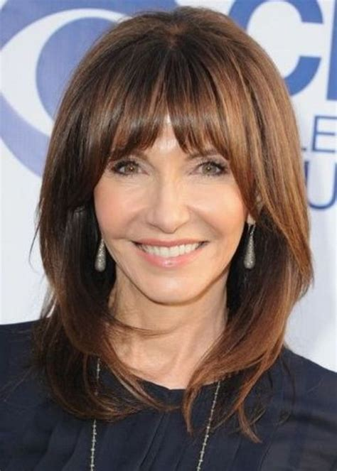 hairstyles for 60 year old women with bangs hairstyles with bangs for women over 50