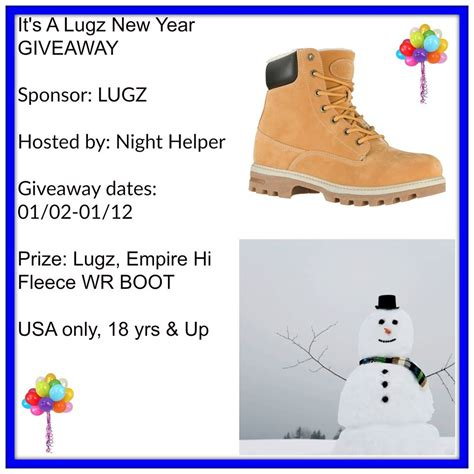 Boot Giveaway - welcome to quot the lugz empire hi fleece wr boot giveaway quot night helper