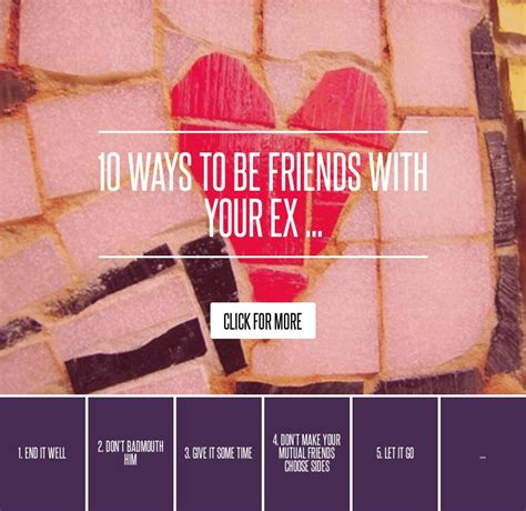 10 Ways To Be Friends With Your Ex 10 ways to be friends with your ex