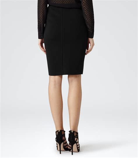 Skirt Black 5905 lyst reiss sella formal pencil skirt in black